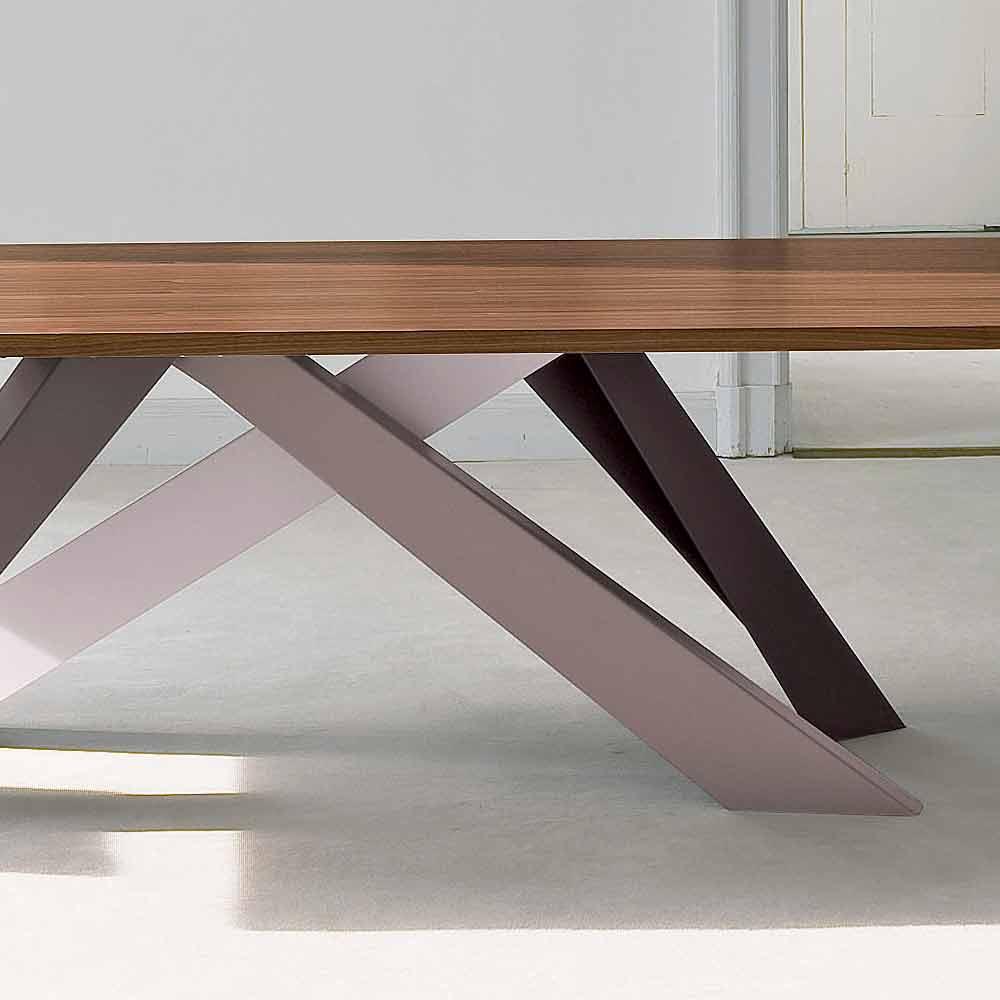Bonaldo Big Table Tisch von Design aus furniertem Holz made in Italy