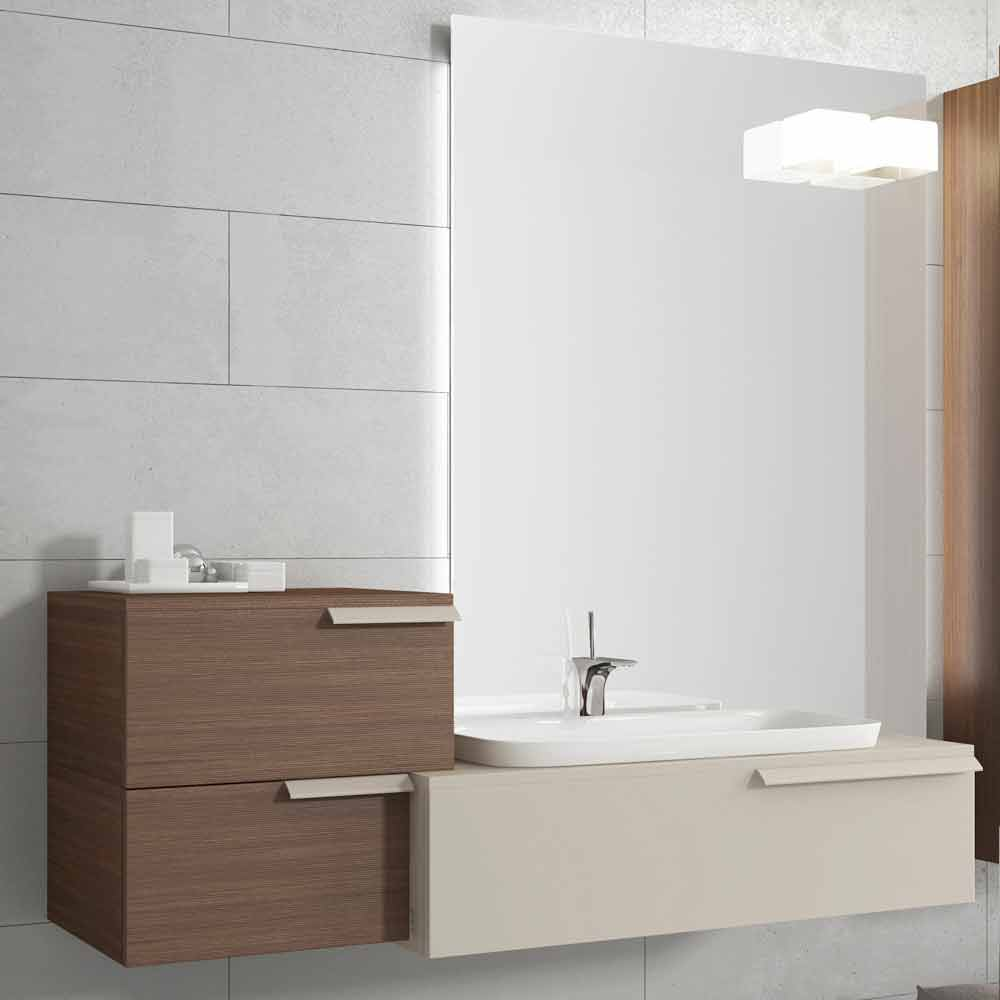 Suspended Badezimmermobel Design Zusammensetzung Happy Lackiertem Holz Happy