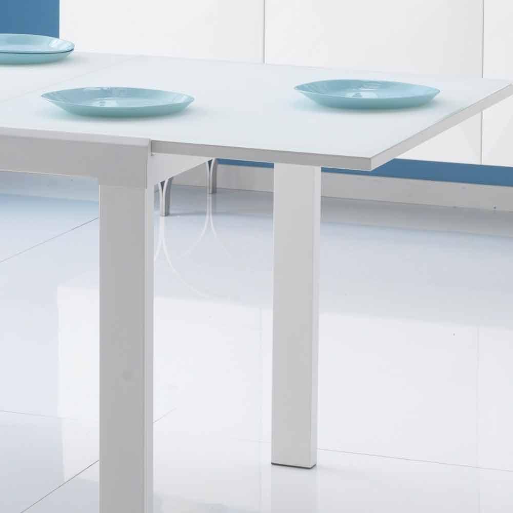 Esstisch mit glas tischplatte ausziehbar teo - Ausziehbarer esstisch glas ...