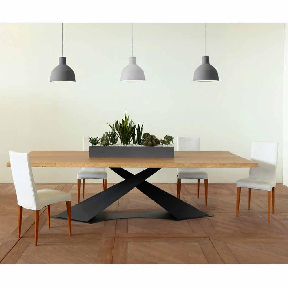 Esstisch im modernen Design mit Elliot-Tischplatte aus italienischer Eiche