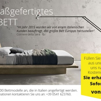 Fordern Sie Ihr Bett Individuelle King Size - 100% Made in Italy