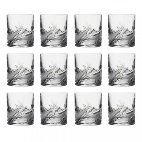 12 Double Old Fashioned Tumbler Whiskygläser mit niedrigem Kristallgehalt - Advent