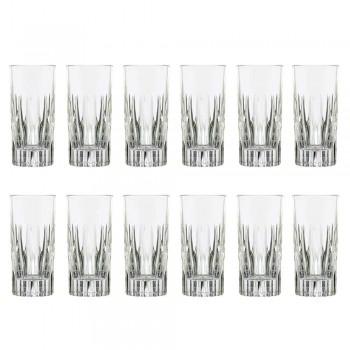 12 Becher Tall Long Drink Glasses aus ökologischem Kristall - Voglia