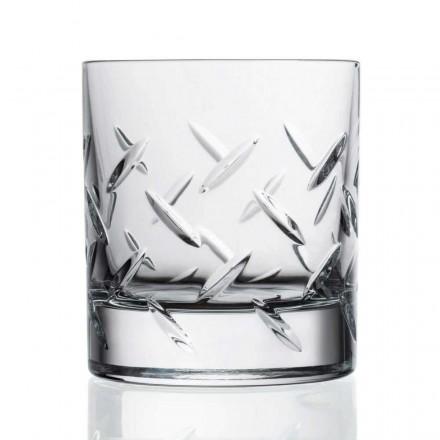 12 Gläser für Whisky oder Wasser in Öko-Kristall mit kostbaren Dekorationen - Arrhythmie