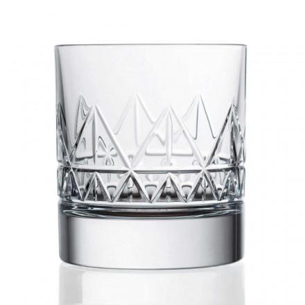 12 Kristall Luxus Vintage Design Whisky oder Wassergläser - Arrhythmie