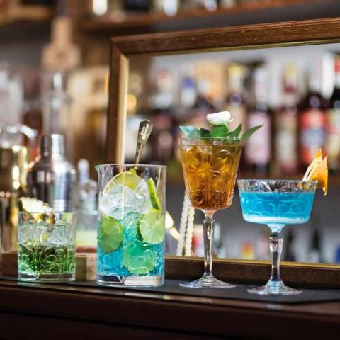 12 Gläser für Wasser-, Getränke- oder Cocktaildesign in dekoriertem Öko-Kristall - Destino