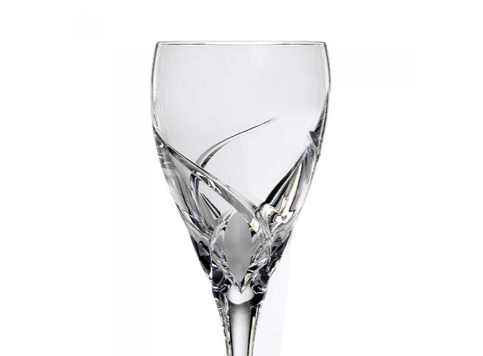 12 Luxus-Design-Weinverkostungsgläser aus Öko-Kristall - Montecristo