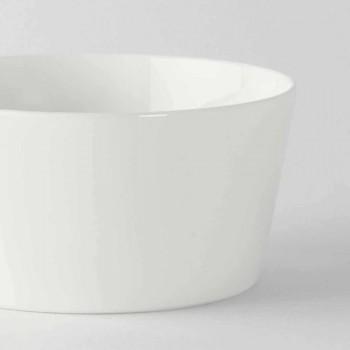12 Modern Design Weißes Porzellan Eis oder Obstbecher - Egle