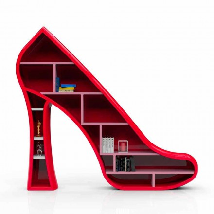 Bücherregal aus Solid Surface® in modernem Design Lady Made in Italy