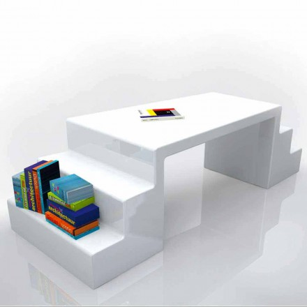 Moderner Schreibtisch Abbott weiß, grün oder moka