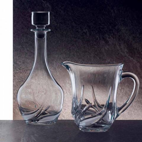 2 Öko-Kristallweinflaschen mit rundem Designdeckel und Dekorationen - Advent