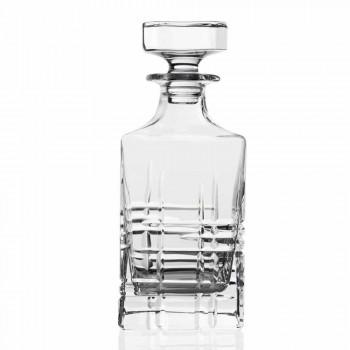 2 Whiskyflaschen mit kristallverzierter quadratischer Designkappe - Arrhythmie