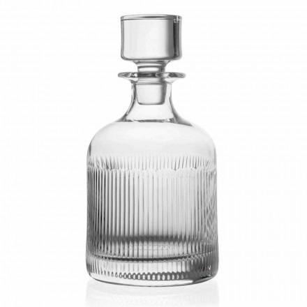 2 Whiskyflaschen mit umweltfreundlichem Kristallkappen-Vintage-Design - taktil