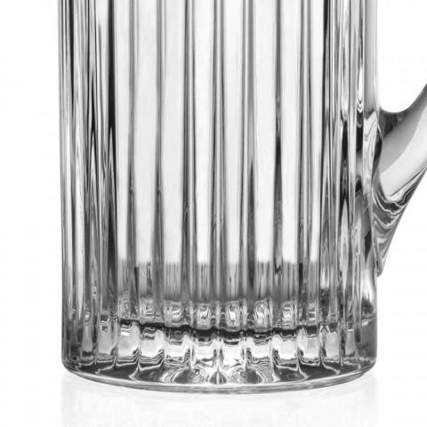 2 Krüge Wasser und Getränke in luxuriösem Design mit Öko-Kristalldekoration - Senzatempo