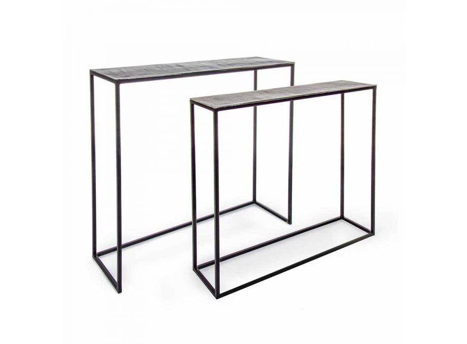 2 Consolle in Stahl Industriestil Modernes Design Homemotion - Sesam
