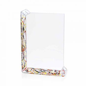 2 Fotorahmen mit mehreren Tischen aus farbigem Plexiglas oder mit Holz - Menelao