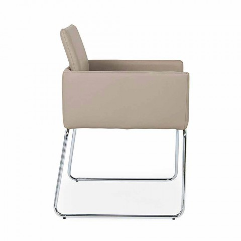 2 Stühle mit Armlehnen aus Kunstleder Modern Design Homemotion - Farra