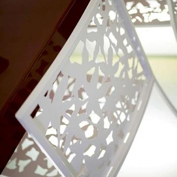 2 Hocker in weißem Metall Laser Cut Low oder High Design - Patatix