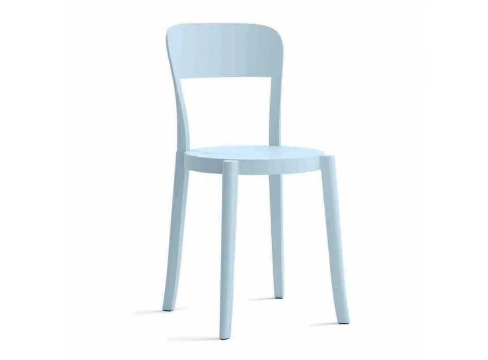 4 stapelbare Stühle aus Polypropylen im Freien Made in Italy Design - Alexus
