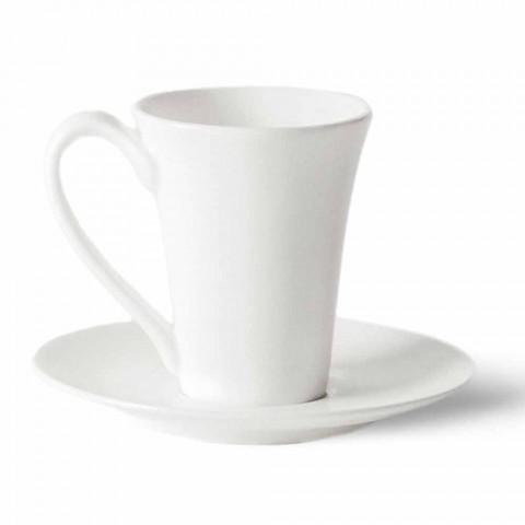 6 Porzellan-Kaffeetassen mit Kaffeekanne und Zuckerdose - Romilda
