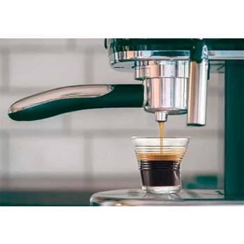 6 zerknitterte Kaffeetassen aus farbigem Designglas - Sarabi