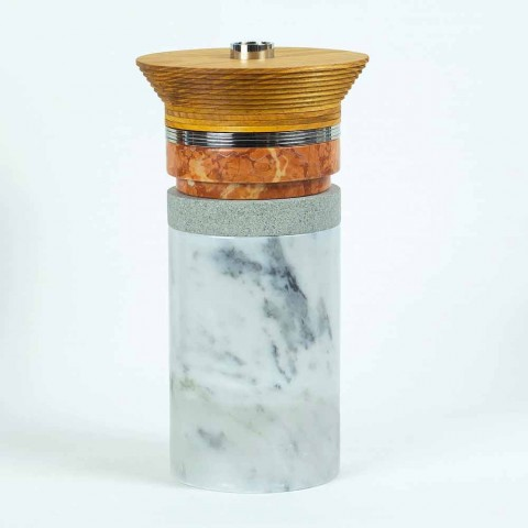 Aperitif-Zubehör Cocktail-Instrumente aus Marmor, Holz und Stahl - Norman