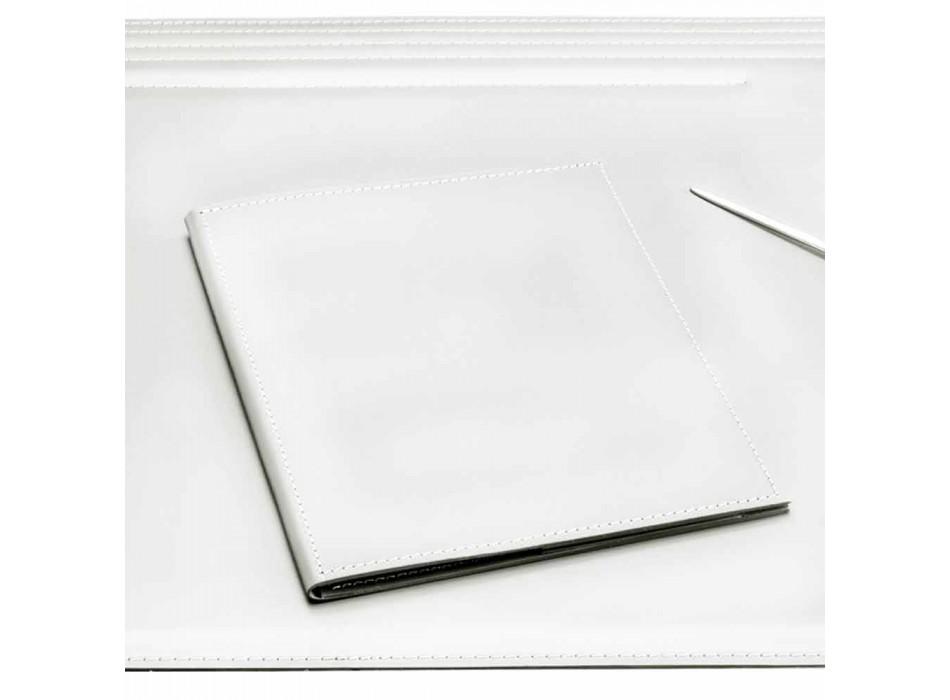Schreibtischzubehör aus regeneriertem Leder 5 Stück Made in Italy - Ebe