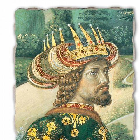 """Das große Fresko Gozzoli Prozession der Heiligen Drei Könige mit König Melchior """""""