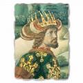 Fresko Gozzoli der Zug der hl. drei Könige König Melchior
