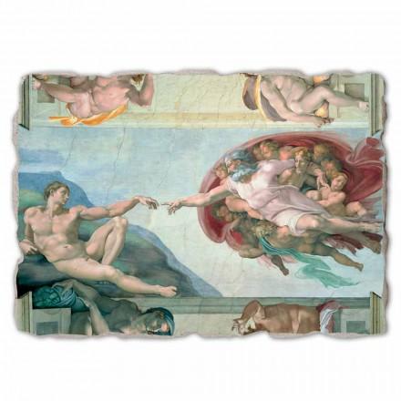 Großes Fresko Michelangelo die Erschaffung Adams