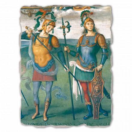 Perugino großes Fresko Fortitudo und Temperantia mit antiken Helden