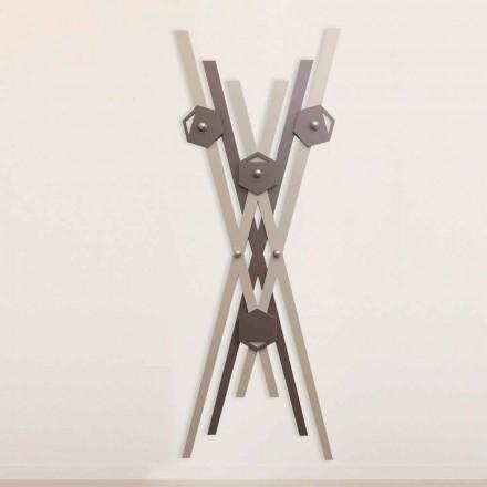 Wandhalter Modernes Design Farbiges Holz für den Eingang - Picasso