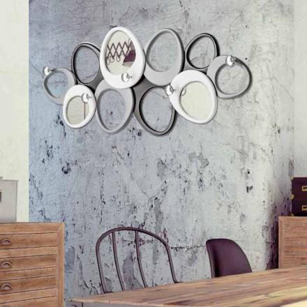 Wand-Kleiderständer in modernem Design Molecole Viadurini Decor