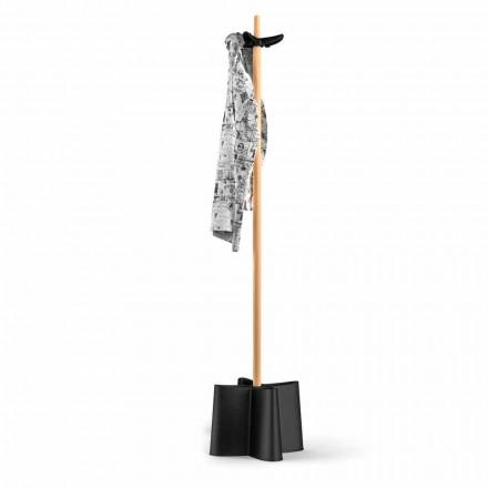 Kleiderständer und Schirmständer aus Buchenholz und Polypropylen Nurri