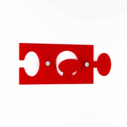 Wandhalterungen aus farbigem Plexiglas Single Design 4 Stück - Fratack