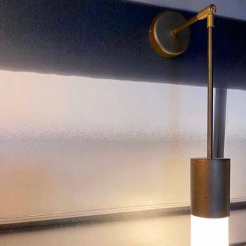 Artisan Wandleuchte aus Aluminium und Satinglas Made in Italy - Master