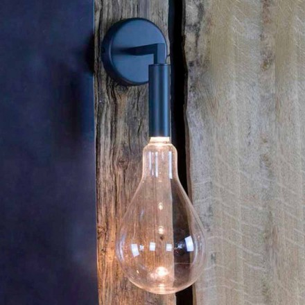 Außenwandleuchte aus Eisen und Aluminium mit LED inklusive Made in Italy - Luccico