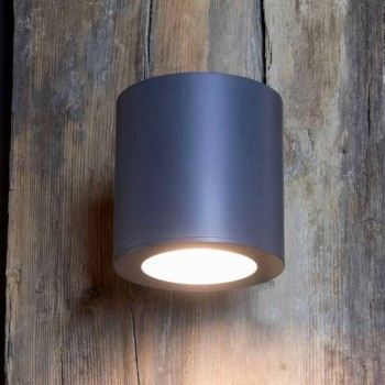 Außenwandleuchte aus Eisen und Aluminium mit LED inklusive Made in Italy - Rango
