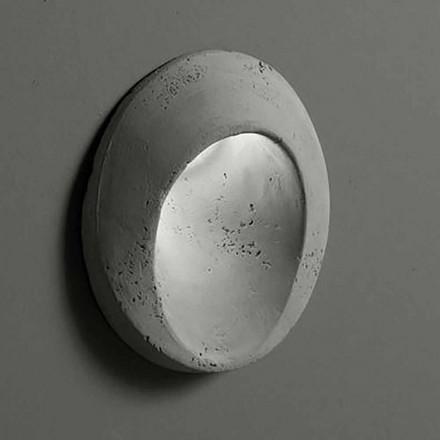 Ovale Außenwandleuchte aus farbigem Ton Oval - Toscot