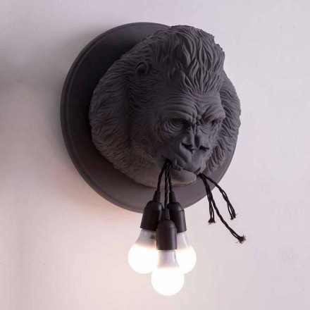 3 Lichter Wandleuchte in Gorilla Ceramic Grey oder White Design - Rillago