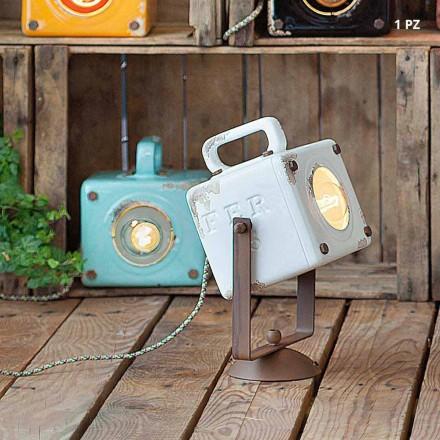 Wandlampe im Industrial Vintage Design aus Keramik und Eisen Julia