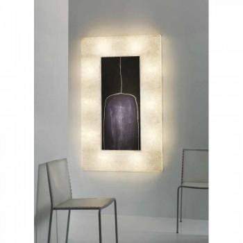 Moderne Design-Wandleuchte In-es.artdesign Lunar Bottle 2 in Nebulite