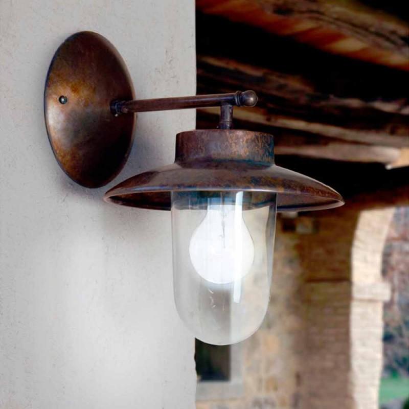 Applique La Traviata Kupfer, Glas und Messing antik