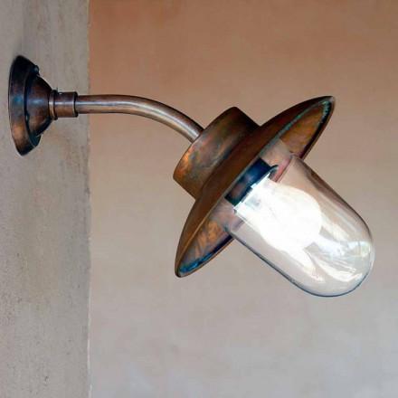 Wandlampe aus Kupfer, Messing und Glas Nabucco Also Bernardi