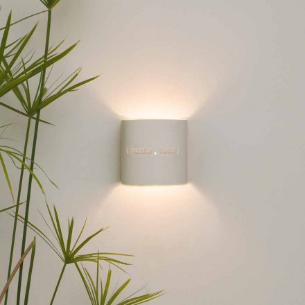 Moderne zweifarbige Wandlampe aus Nebulite In-es.artdesign Punto Luce Design