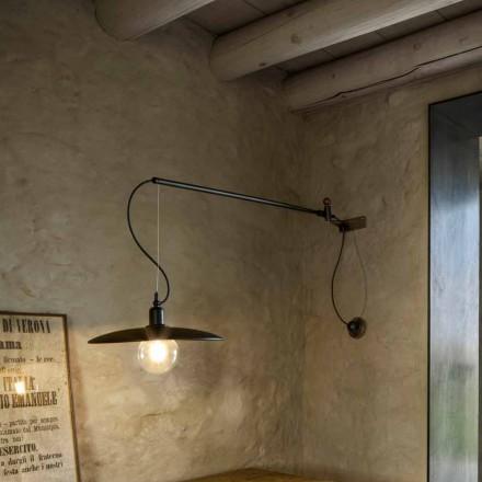 Wandlampe aus Messing mit bewegbaren Arm - Meridiana Aldo Bernardi