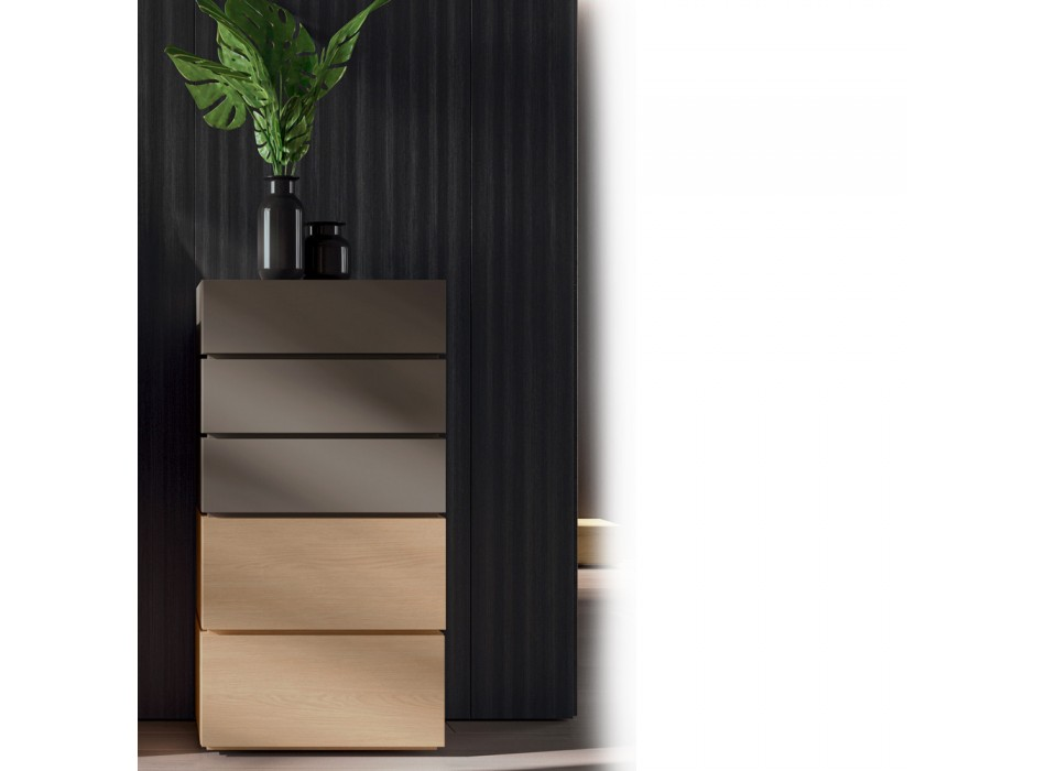 Moderne 5-Elemente Schlafzimmermöbel Made in Italy - Diamond