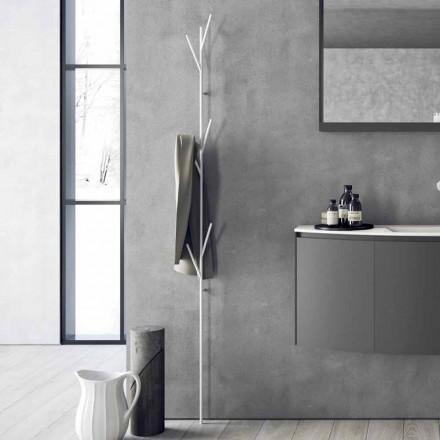 Modern Design Bodengarderobe in Weiß oder Chrom Metall - Kottac