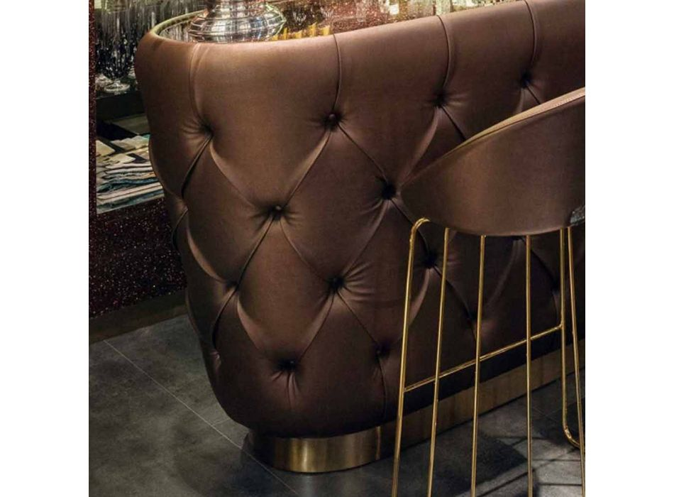 Bartheke mit Glitzerglasplatte Made in Italy, Luxus - Kalkutta