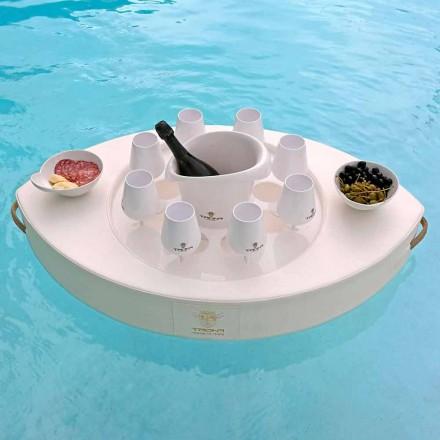 Trona Bootfahrende weiße Kunstlederschwimmbar Made in Italy